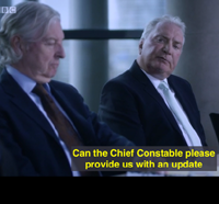 Jim Dornan (on the right) appears in The Fall as a Policing Board member